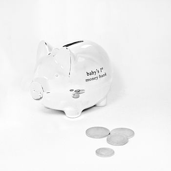 Silver Plated Piggy Money Box