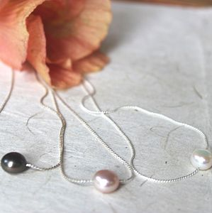 Keimau Single Pearl Necklace - necklaces & pendants