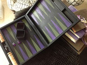 Undercover Leather Backgammon Board