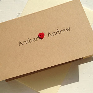 Amber Wedding Stationery Collection - invitations