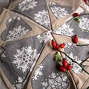 Christmas Linen Bunting