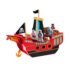 Fair Trade Wooden Pirate Ship