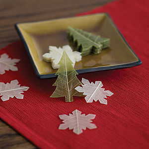 Christmas Tree Soap Leaves Boxed Set - christmas home accessories
