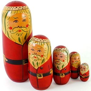 Father Christmas Russian Doll - view all decorations