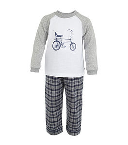 'Chopper' Bike Print Pyjamas