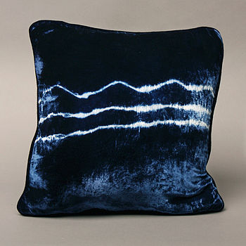 Velvet Wave Dip Dyed Cushion