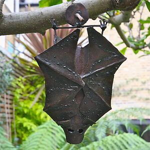 Metal Bat Garden Decoration