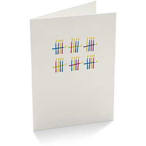 Counting Candles Birthday Card - cards, ribbon & wrap