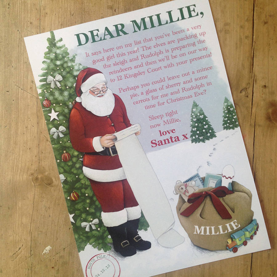 Personalised Children's Letter From Santa
