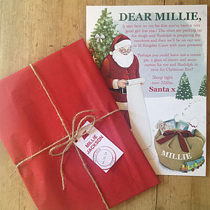 Personalised Children's Letter From Santa - christmas cards