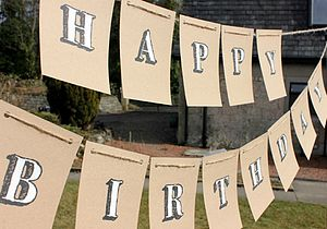 'Happy Birthday' Handpainted Bunting - room decorations