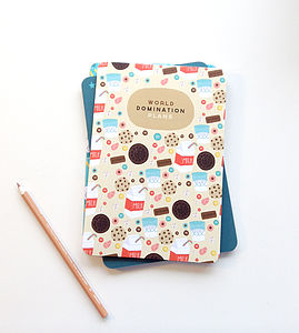 'World Domination Plans' Notebook - gifts for her