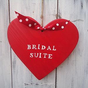 'Bridal Suite' Hanging Heart Decoration