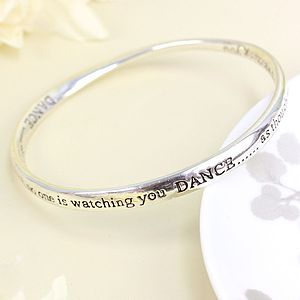 Silver Dance Bangle - women's jewellery