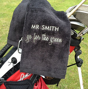 Personalised Slogan Golf Towel - gifts for golfers