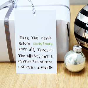'Twas The Night…' Christmas Gift Tags - christmas sale