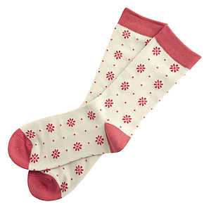Daisy Dot Socks