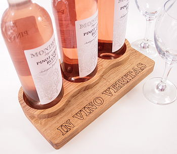 Personalised Oak Wine Rack And Bottle Storage