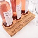 Personalised Oak Wine Rack And Bottle Storage