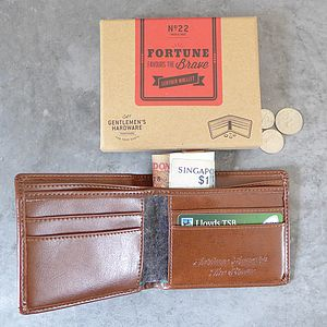 Gentlemen's Leather Wallet - gifts for him