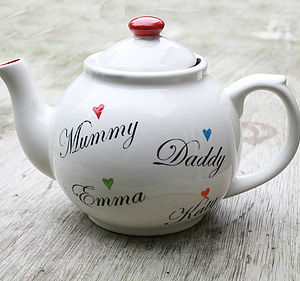 Personalised Family Teapot - shop by price