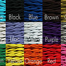 Fabric cord colours