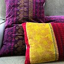 Left, Large aubergine, right, lime and red