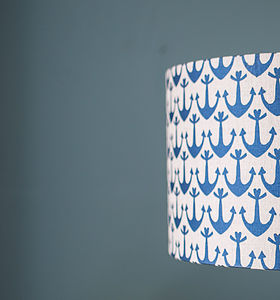 Anchor Linen Lampshade - lighting