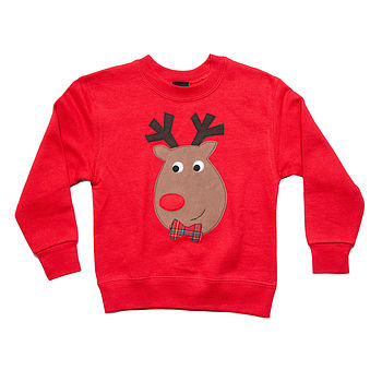 Children's Reindeer Christmas Jumper