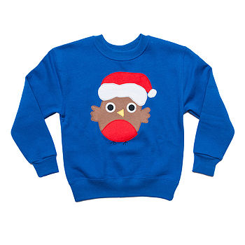 Children's Festive Robin Christmas Jumper