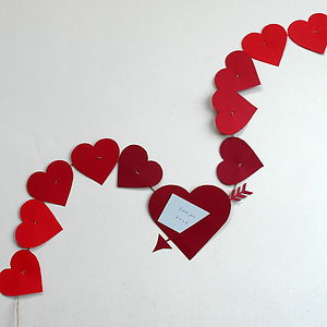 Valentine's Love Note Paper Garland