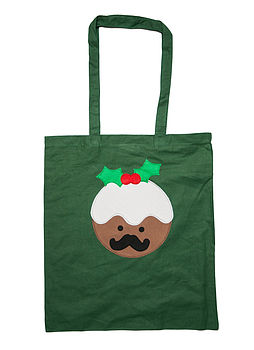 Christmas Pudding Shopper Tote Bag