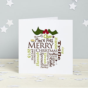 Personalised Christmas Pudding Card Pack - cards & wrap