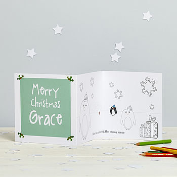 Personalised Colour In Christmas Card
