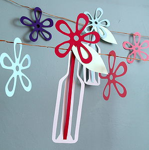 Message In A Bottle Flower Garland - outdoor decorations