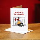 Schnauzer Mince Pies Christmas Card
