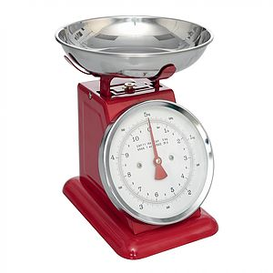 Retro Style Enamel Kitchen Scales - kitchen