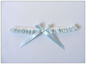 Evie Bleu Bridal Garter Limited Edition - wedding fashion