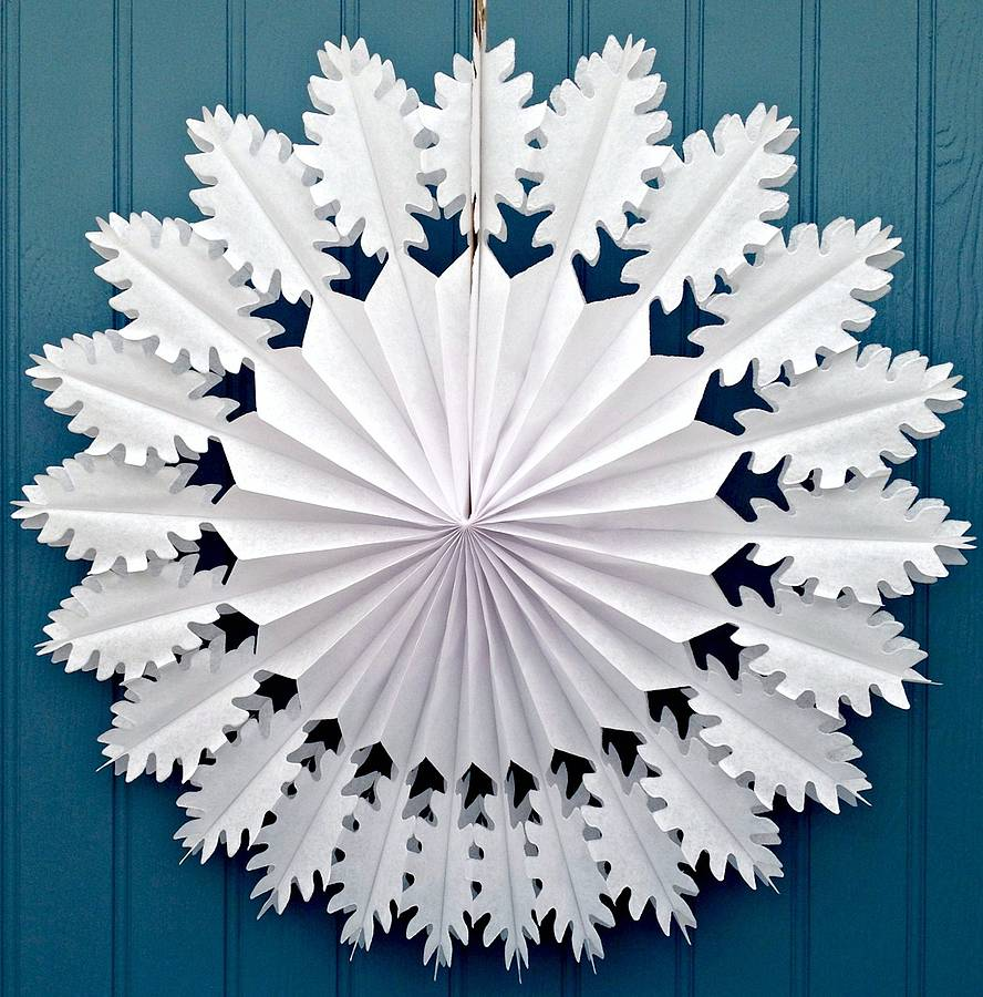 Snowflake paper decoration oak design by petra boase ltd for Paper decorations diy