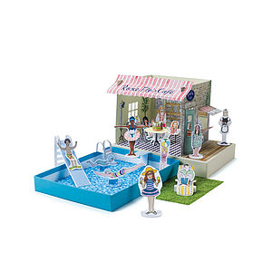 Pool Party Or Fashion Show Colouring Kit