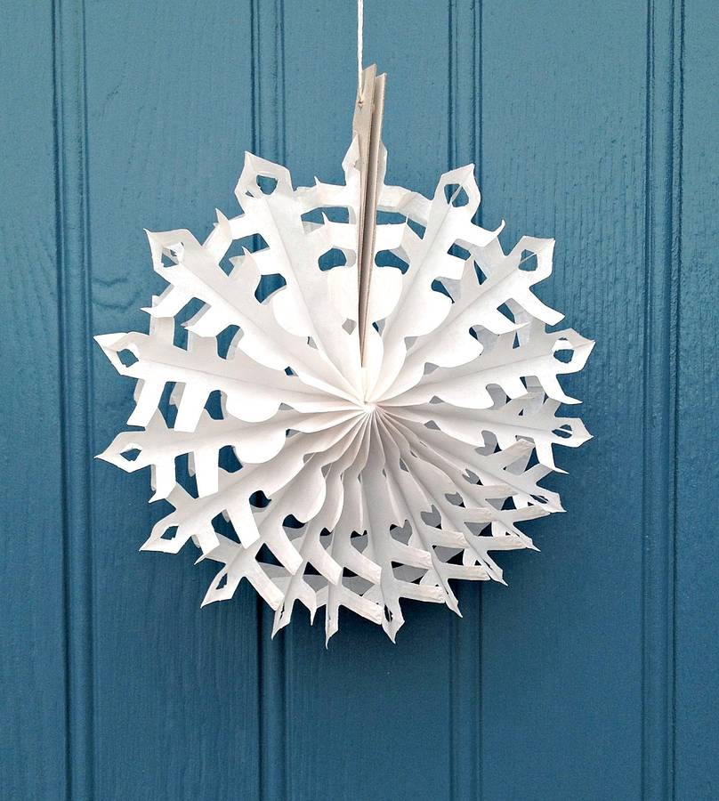snowflake paper decoration stellar design sm by petra boase ...
