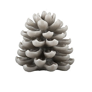 Dove Grey Pine Cone Candle - as seen in the press
