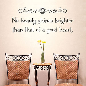 'A Good Heart' Wall Quote Sticker