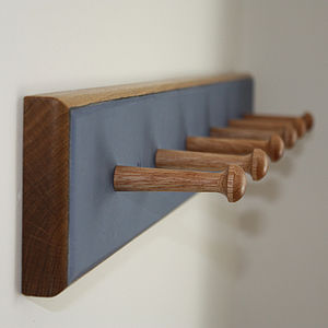 Coloured Peg Rail - home decorating