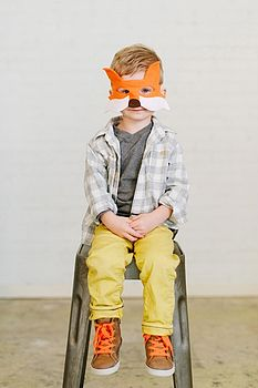 Fox Felt Dressing Up Mask And Tail