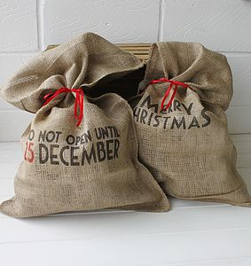 Merry Christmas Santa Sack - stockings & sacks