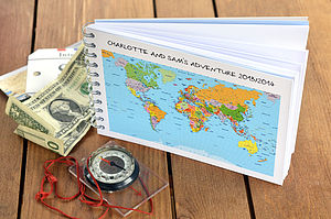 Personalised Travel Journal - wedding gifts