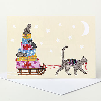 Cat Delivery Christmas Card