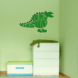 Personalised Stegosaurus Wall Sticker - home decorating