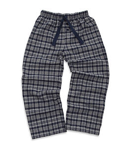 Older Boys Brushed Check Lounge Pants - clothing